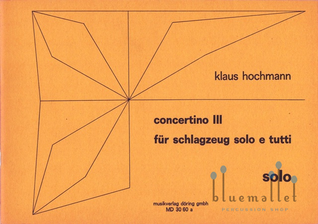 Hochmann , Klaus - Concertino 3 (パート譜のみ)
