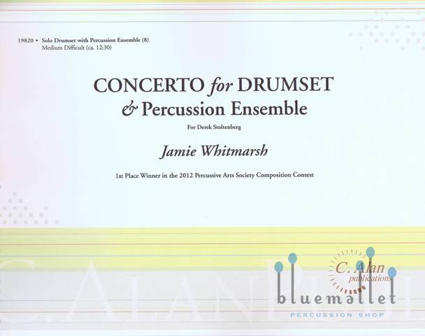Whitmarsh , Jamie - Concerto For Drumset & Percussion Ensemble (スコア・パート譜セット)