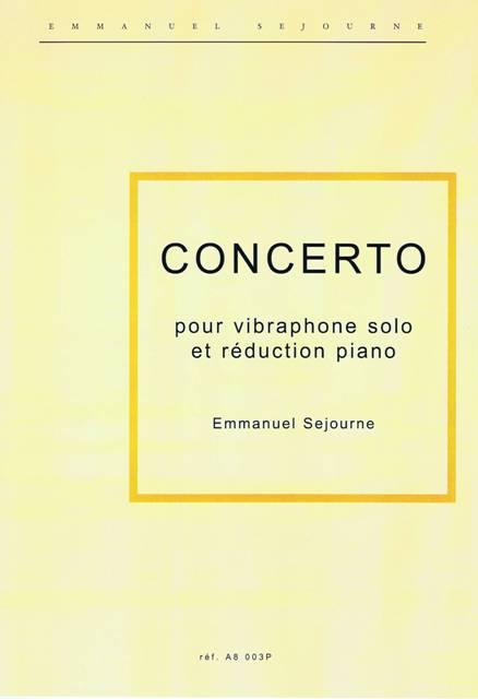 Sejourne , Emmanuel - Concerto pour Vibraphone et Orchestra ( Piano Reduction ) (特価品)