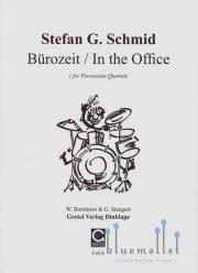 Schmid , Stefan G. - Burozeit / In the Office for percussion Quartet (スコア・パート譜セット)