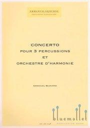 Sejourne , Emmanuel - Concerto pour 3 percussions et Orchestre D'Harmonie (スコア・パート譜セット)