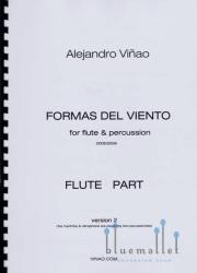 Vinao , Alejandro - Formas del Viento for Flute & Percussion Version 2 (パート譜のみ) (特価品)