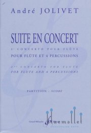Jolivet , Andre - Suite en Concert Flute & Percussion (スコアのみ)