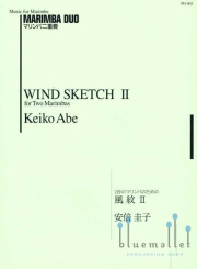 Abe , Keiko - Wind Sketch II  for Two Marimba (スコアのみ)(特価品)