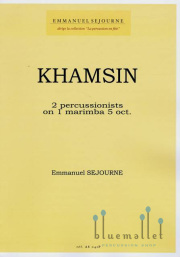 Sejourne , Emmanuel - Khamsin (スコア・パート譜セット)