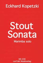 Kopetzki , Eckhard - Stout Sonata Marimba Solo (特価品)