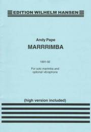 Pape , Andy - Marrrrimba  for Solo Marimba and Optional Vibraphone