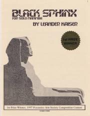 Kaiser , Leander - Black Sphinx  for Solo Marimba (特価品)
