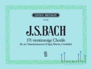 Bach , Johann Sebastian - 371 Vierstimmige Chorale fur ein Tasteninstrument (Orgel , Klavier , Cembalo) (特価品)