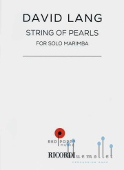 Lang , David - String of Pearls for solo marimba (特価品)