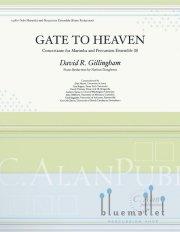 Gillingham , David R. - Gate to Heaven Concertante for Marimba and Percussion Ensemble (ピアノ伴奏版 / スコア・パート譜セット) (特価品)