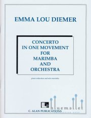 Diemer , Emma Lou - Concerto in One Movement for Marimba and Orchestra (Piano reduction and Solo Marimba)