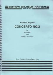 Koppel , Anders - Concerto No.2 for Marimba and String Orchestra (Piano Reduction) (スコア・パート譜セット) (特価品)
