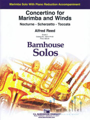 Reed , Alfred - Concertino  for Marimba and Winds (Piano Reduction) (スコア・パート譜セット)