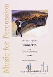 Sejourne , Emmanuel - Concerto for Marimba and Strings Version 2015 (1st Movement Only) (弦楽合奏伴奏版スコアのみ) (特価品)