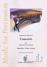 Sejourne , Emmanuel - Concerto for Marimba and Strings Version 2015 (3 Movements) (Piano Reduction) (スコア・パート譜セット)