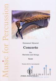 Sejourne , Emmanuel - Concerto for Marimba and Strings Version 2015 (3 Movements) (弦楽合奏伴奏版スコアのみ)