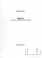 Torke , Michael - Mojave Concerto for Marimba and Wind Ensemble (吹奏楽伴奏版、スコアのみ) (特価品)