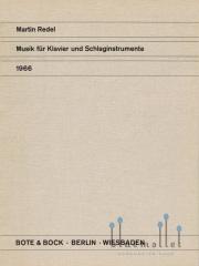Redel , Martin - Musik fur Klavier und Schlaginstrumente (スコアのみ2部セット) (特価品)