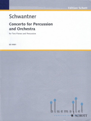 Schwantner , Joseph - Concerto for Percussion and Orchestra (2台ピアノ伴奏版 / スコア・パート譜セット)