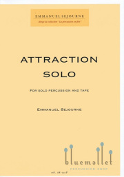 Sejourne , Emmanuel - Attraction Solo (伴奏CD付) (特価品)