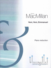 MacMillan , James - Veni,Veni,Emmanuel  Pn.red (スコアのみ) (特価品)