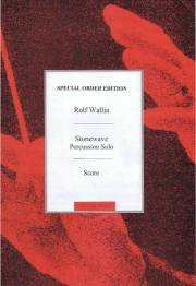 Wallin , Rolf - Stonewave for Solo Percussion (特価品)