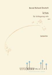Deutsch , Bernd Richard - Ictus fur Schlagzueg solo