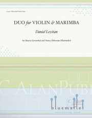 Levitan , Daniel - Duo for Violin and Marimba (スコア・パート譜セット)
