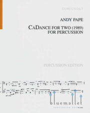 Pape , Andy - CaDance for Two for Percussion (スコアのみ) (特価品)