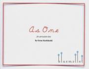 Koshinski , Gene - As One for Percussion Duo (スコア・パート譜セット) (特価品)