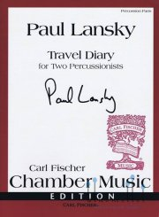 Lansky , Paul - Travel Diary for Two Percussionists (パート譜のみ) (特価品)