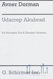 Dorman , Avner -  Udacrep Akubrad for Percussion Duo & Chamber Orchestra (オーケストラ版打楽器パートスコア2冊のみ) (特価品)