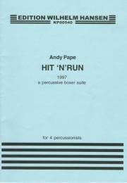 Pape , Andy - Hit'n' Run for 4 Percussionists (スコアのみ) (特価品)