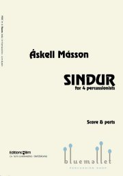 Masson , Askell - Sindur for 4 Percussionists (スコア・パート譜セット) (特価品)