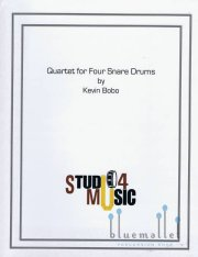 Bobo , Kevin - Quartet for Four Snare Drums (スコア・パート譜セット) (特価品)