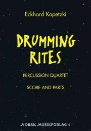 Kopetzki , Eckhard - Drumming Rites Percussion Quartet (スコア・パート譜セット)(特価品)