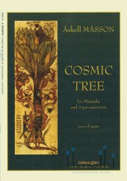 Masson , Askell - Cosmic Tree for Marimba and 3 Percussionists (スコア・パート譜セット)