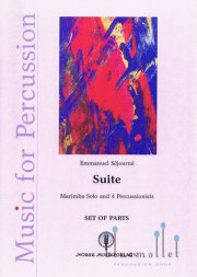 Sejourne , Emmanuel - Suite for Marimba and 4 Percossionists (パート譜のみ) (特価品)