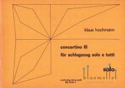 Hochmann , Klaus - Concertino III (パート譜のみ)