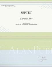 Rice , Dwayne - Septet  (スコア・パート譜セット)