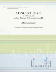 Houston , Allen - Concert Piece for Timpani & Percussion Ensemble (スコア・パート譜セット)