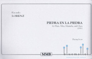 Lorenz , Ricardo - Piedra En La Piedra for Flute,Vibes,Marimba,and Clave (スコアのみ2部セット)
