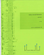 Marthinsen , Niels - Burst for Saxophone and Percussion (スコアのみ) (特価品)