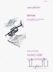 Jolivet , Andre - Heptade pour Trompette et Percussion (スコア・パート譜セット) (特価品)