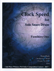 Ono , Fumihiro - Clock Speed for Solo Snare Drum
