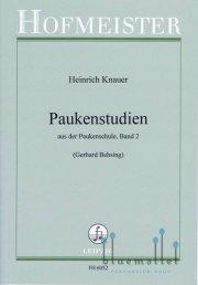Knauer , Heinrich - Paukenstudien aus der Paukenschule, Band 2