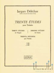 Delecluse , Jacques - Trente Etudes pour Timbales 3