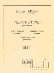 Delecluse , Jacques - Trente Etudes pour Timbales 1