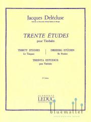 Delecluse , Jacques - Trente Etudes pour Timbales 2